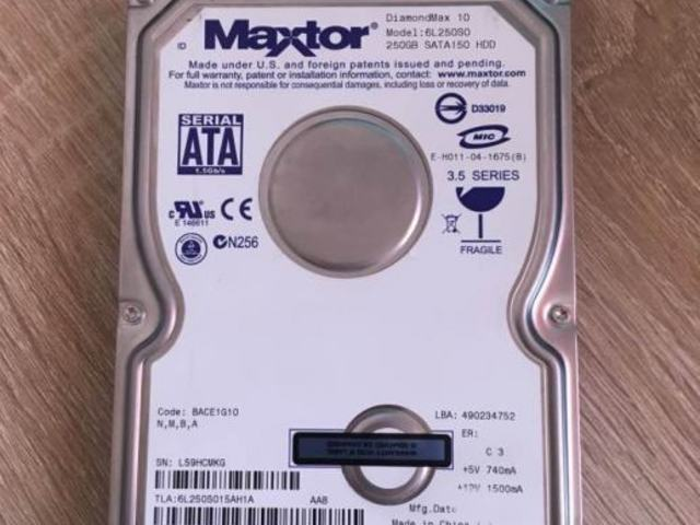 Maxtor HDD 250 GB sata